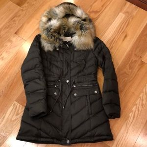 Laundry knee length puffer coat